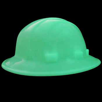 35d3e3509c7 ERB Safety 19922 - Omega II Full Brim Mega Ratchet Glow in the Dark Hard Hat