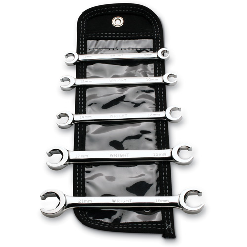 Wright Tool 744 Metric Standard Flare Nut Wrench Set 5-Pieces